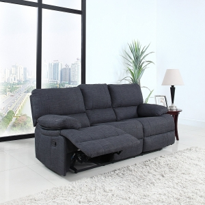 Classic and Traditional Dark Grey Fabric Oversize Recliner Loveseat (2 Seater)