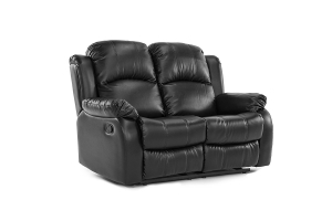 4. Classic Double Reclining Loveseat - Bonded Leather Living Room Recliner