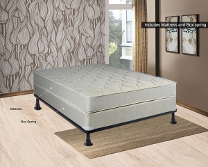 Continental Sleep 12″ Fully Assembled Orthopaedic Queen Size Mattress and Box Spring
