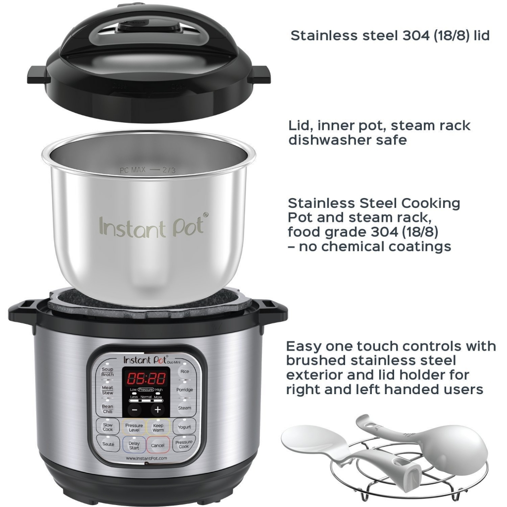 Instant Pot Duo Mini 3 Qt 7inch Multi use programmable coocke slow cook rice , simmer