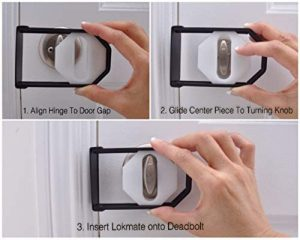 LOKmate Deadbolt Guard Door Lock Security - Magnet Version