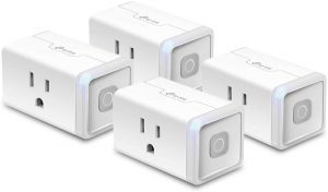 Kasa Smart Plug HS103P4, Smart Home Wi-Fi Outlet Works with Alexa, Echo, Google Home & IFTTT, No Hub Required, Remote Control, 15 Amp, UL Certified...